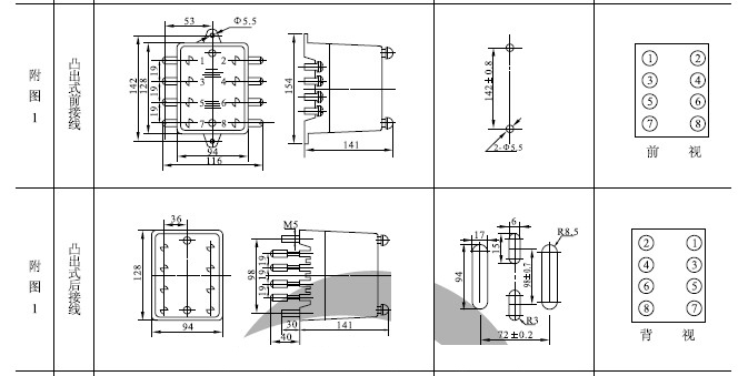 ,能满足电力系统继电保护中缩短保护时间级差的要求, 是目前时间继电器理想的更新换代产品。该继电器外形结构和内部接线、工作方式、整定范围与 DS 系列时间继电 器相同,仅整定方式不同,拨码开关的三位数乘以0.01s或0.1s时间时基即为整定时间,改变整定值无需进行校验。 2、本继电器为动作延时型数字时间继电器,由进口CMOS集成电路构成, 继电器由振荡器、分频器和三级脉冲 计数器组成,通过BCD码拨码开关整定延时值。 3、继电器通常不带电,施加额定电压后,继电器内部瞬动继电器动作、同时晶振起振, 产生时钟脉