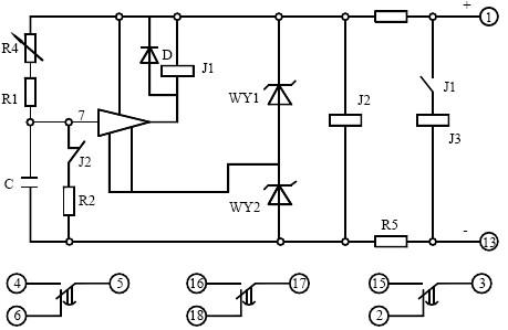 bs-14时间继电器价格_接线图