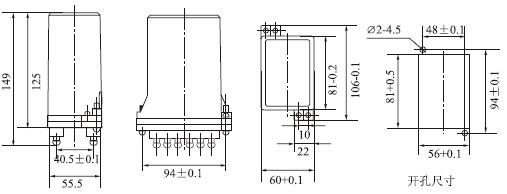 触点容量:在电压不超过250V,电流不超过5A,时间常数为5±0.75ms的直流有感负荷电路中,产品输出触点的断开容量为50W。输出触点在上述规定的负荷条件下,产品能可靠动作及返回5×104次。输出触点长期允许接通电流为5A。