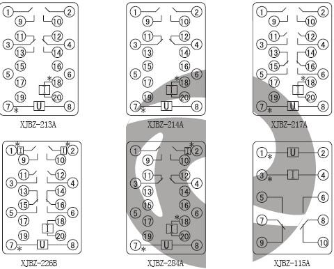 xjbz-214a静态防跳中间继电器价格_接线图_工作原理